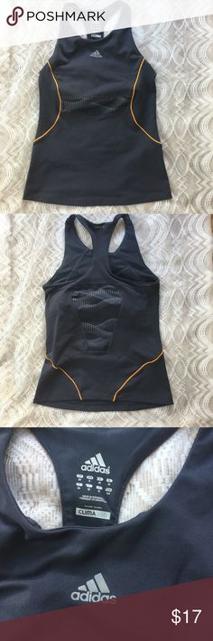 Adidas clim365 workout racerback top Climalite racerback workout shirt with built in bra.  Still in very good condition. Adidas Tops Tank Tops
