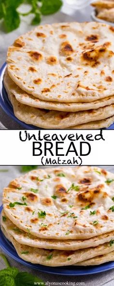 Unleavened Bread (Matzah) Alyona is cookingUnleavened bread is a flatbread that does not contain any ascending agents. Known in the Jewish community as Matzah, it is a symbolic element of great importance. This recipe Passover Recipes, Jewish Recipes, Passover Food, Passover Feast, Kosher Recipes, Cooking Recipes, Feast Of Unleavened Bread, Unleavened Bread Recipe For Passover, Biblical Bread Recipe