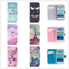 50d5bd3cac7 Art Flip Leather Wallet Cover For Samsung Galaxy S8 Plus S3 S4 mini S5 S6  S7 edge Case For iphone 4 4s 5 5s 5C SE 6 6s 7 Plus