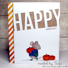 You Could Be a Card Design Superstar Card Contest! Harvest Mouse, Mft Stamps, Die Cut Cards, Thanksgiving Cards, Scrapbooking, Card Patterns, Card Tutorials, Cool Cards, Homemade Cards