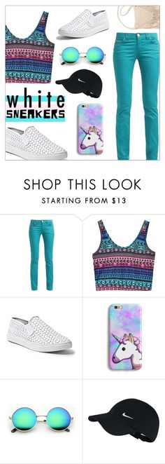 """""""White Sneakers"""" by emhenry ❤ liked on Polyvore featuring Steve Madden, NIKE and Billabong"""