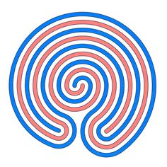 The red spiral inside the blue one