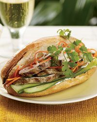 Grilled-Chicken Banh Mi - This popular Vietnamese sandwich combines sweet, sour, crunchy and soft in one delicious—and portable—package