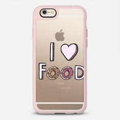 I ♥ Food Typography - New Standard iPhone 6/6S #Protective Case in Pink Gray and Clear by @tangerinetane #phonecase   @casetify