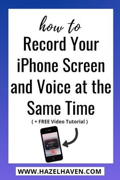 How to Record Your i