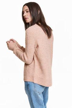 Jersey de punto - Rosa empolvado - MUJER | H&M ES