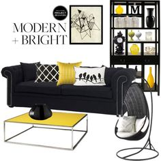 """Yellow & Black"" by rebecca-mae on Polyvore"