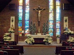 December 22nd was the day to decorate St. Mary's for Christmas. We gathered at the Church with just a few...but we all work well together an...
