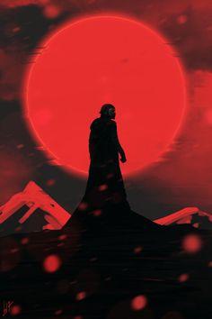 """jediwoodchuck: """"Kylo Ren by Kevin Baussart Found here // Jedi Your Being """" Star Wars Fan Art, Star Wars Saga, Star Wars Kylo Ren, Kylo Ren Wallpaper, Star Wars Wallpaper, Knights Of Ren, Star Wars Images, Star Wars Poster, Last Jedi"""