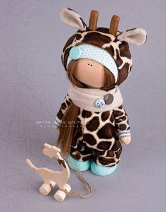 Giraffe doll Handmade doll Tilda doll por AnnKirillartPlace en Etsy