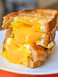 Egg in the Hole Grilled Cheese! My family's favorite breakfast!