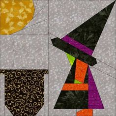 Witchy Sue–A FREE Paper Pieced Pattern I am super excited to announce the debut of Stitches and Kisses Dorothy Gautier and I have joined our brains, and are creating the CUTEST series. Halloween Quilts, Halloween Quilt Patterns, Halloween Sewing, Fall Sewing, Halloween Blocks, Halloween Scrapbook, Halloween 4, Paper Pieced Quilt Patterns, Quilt Block Patterns
