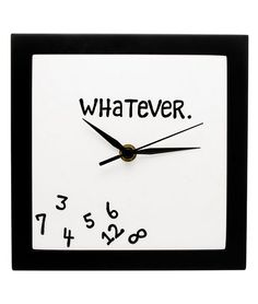Clock 'Whatever' by Uncommon Goods.