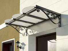wrought iron canopy over window - Google Search