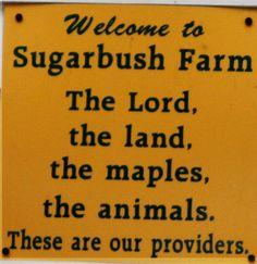 Cheese and Maple Syrup farm in Vermont: http://www.sugarbushfarm.com