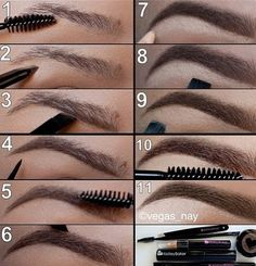 Eyebrow Eyeliner. Ladies need to appreciate good eyebrows more!