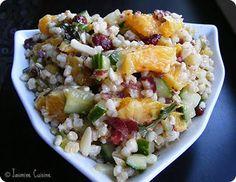 Salade de grains de blé au concombre et à l'orange