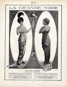 Femina 1914 Edwardian Era, Edwardian Fashion, Vintage Fashion, Victorian, Vintage Clothing, Magazine Mode, Fashion Details, Fashion Design, Dress Drawing