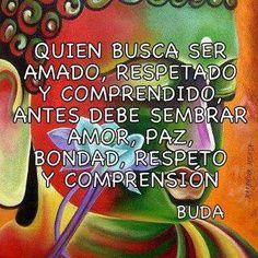 """El que busca ser amado, respetado y comprendido, antes debe sembrar paz, bondad, amor y compasión"""" Buda."""
