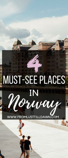 If you're headed to Norway for the first time but aren't exactly sure where to go, then you might want to check out these places to visit in Norway. From stunning views of the Northern Lights to adventurous snowmobiling in the mountains, you'll experience the true beauty, serenity, and rawness of Norway's must-see places. Check out these four must-see places in Norway! | PIN FOR LATER | #norway #tromso #olso #northernlights via @lusttilldawn