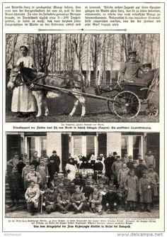 """Vergessene Hilfsquellen, Beschäftigung als Heimittel, 13 jähriger Kriegsfreiwilliger/  aus """"Die Woche """" Heft 17  - 1915"""