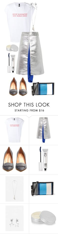 """Friday Night"" by statuslusso ❤ liked on Polyvore featuring OMC, Marni, Rupert Sanderson, Eyeko, MANGO, Balenciaga and Zelens"