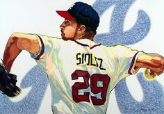 Mixed-media portrait of Atlanta Braves great John Smoltz for the John Smoltz Celebrity Players Tour event in Atlanta, GA. Amazing event with Michael Jordan, Pink and Jeff Foxworthy in attendance!  #ThrowbackThursday #Art  #braves #mlb #artist #entertainment #celebrity #baseball #atlanta #ga #georgia #fineart #contemporaryart #nike  #portrait #artistsoninstagram http://tipsrazzi.com/ipost/1508015813108841193/?code=BTtjGRoBjrp