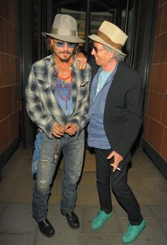 Johnny Depp and Keith Richards party in London