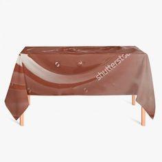 Tafelkleed Gesmolten Chocolade   Fleur je keuken op met dit weerbestendige tafelkleed bestaande uit geweven linnen met PVC.   #tafelkleed #keukentextiel #keuken #kleed #pvc #print #opdruk #tafel #weerbestendig #chocolade #chocola #choco #suiker #zoetigheid