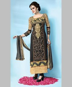 Stitched Suit  http://www.velvetkart.com/women/ethnic-wear/salwar-kurta-dupattas/skhte3431.html  INR 3640, Size: 28-42, Free Shipping, Cash on Delivery in India. Click the link above to Buy