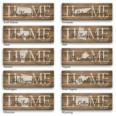 Home State Personalized 6x18 Canvas - For the Home - For Her & Him | Personalized Planet