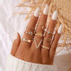 Stylish Jewelry, Cute Jewelry, Jewelry Accessories, Cute Rings, Pretty Rings, Fashion Rings, Fashion Jewelry, Women Jewelry, Nagel Hacks