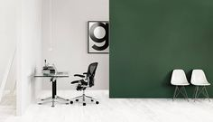 La maison d'Anna G.: Lotta Agaton for Herman Miller Dark Green Walls, Green Interior Design, Small Living Room Chairs, Anna, Small Home Offices, Shabby Chic Table And Chairs, Occasional Chairs, Herman Miller, Upholstered Dining Chairs