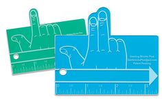 Finger spacers.