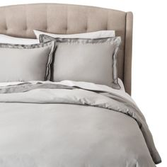 Fieldcrest®+Luxury+Duvet+Cover+Set+-+Gray