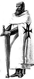 Un chevalier Teutonique à l'époque des croisades.