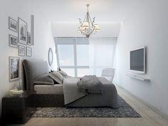 3D визуализация спальни 17.7 м2. Проект «Воздушный мост»