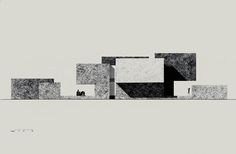Everson Museum of Art, New York, 1968 - IM Pei.  Elevation.