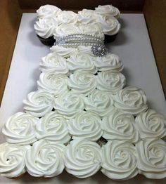 Cupcake wedding dress for bridal shower…cute!