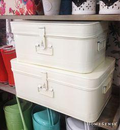 Organizing, Organization, Homesense, Smart Storage, Spring Blooms, Tin Boxes, Buckets, Zine, Home Accessories