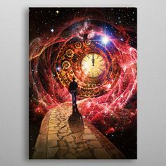 Time and Space Fantasy Poster Print