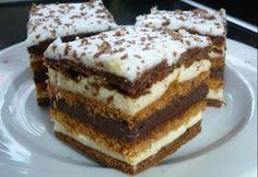 Chod: Zákusky a koláče - Page 11 of 254 - Mňamky-Recepty. Hungarian Desserts, Hungarian Recipes, Sweet Cookies, Sweet Treats, Cookie Recipes, Dessert Recipes, Torte Cake, Sweet And Salty, Winter Food