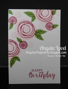 Angela's PaperArts: Swirly #1 - Birthday greetings