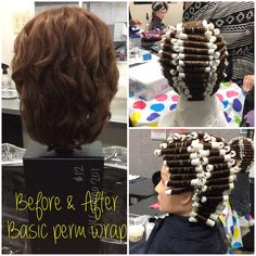 angled hair styles spiral perm wrap w boom rods nov 30 chemical texture 2286