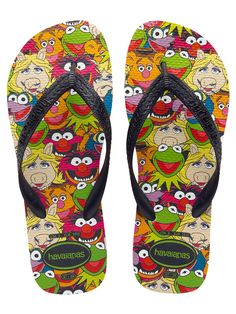 Your favorite flip flops and sandals! Over 300 styles of sandals, flip flops, & footwear for the whole family. Shop at Havaianas, the flip flops brand. Jim Henson, Flip Flop Sandals, Flip Flops, The Muppet Show, Kermit The Frog, Zooey Deschanel, Ciabatta, Walk On, Me Too Shoes