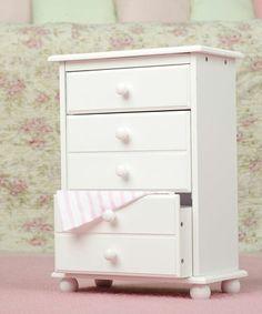 Another great find on #zulily! White Doll Dresser for 18'' Dolls #zulilyfinds