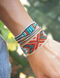 Beaded bracelet Seed bead bracelet Statement bracelet