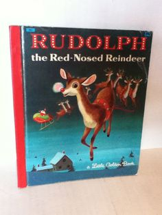 Vintage Little Golden Book Rudolph the Red by UpcycledWhimsies, $7.00