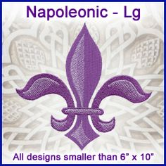 A Napoleonic Design Pack - Lg design (X7388) from www.Emblibrary.com