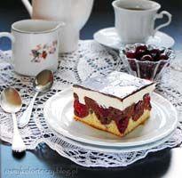 Ciasto fale Dunaju z wiśniami